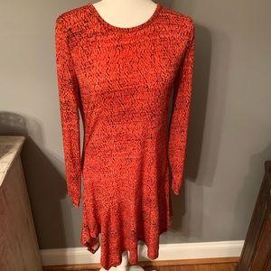 MICHAEL KORS asymmetrical long sleeve dress